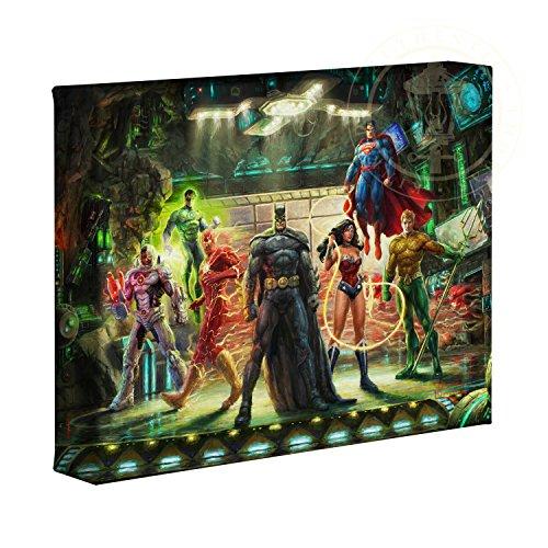(Thomas Kinkade Studios Super Hero Fine Art The Justice League 8 x 10 Gallery Wrapped Canvas)