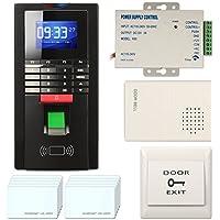 Realand Smart Time Attendance Recorder Clock Bio Fingerprint+ID+Password Package Black