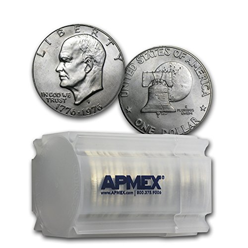 Eisenhower Dollar Roll (1976 S 40% Silver Eisenhower Dollar 20-Coin Roll (Type 1) Dollar About Uncirculated)