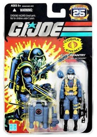 G.I. Joe 25th Anniversary: Cobra Air Trooper (Elite Infantry) 3.75 Inch Action Figure - Backpack Gi Joe Weapon