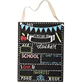 Primitives by Kathy - First Day of School Chalkboard Sign (8 x 10.5)