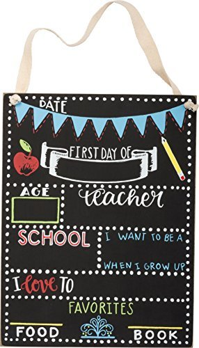Primitive by Kathy First Day of School Chalkboard Sign (8 x 10.5) by Primitives By Kathy