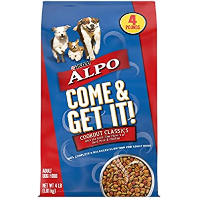 Purina ALPO Dry Dog Food, Come & Get It! Cookout Classics - (4) 4 lb. Bags