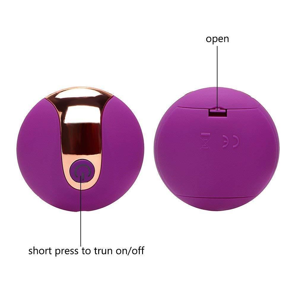 My's My's My's baby Ndfwefs Suministros de la Cama Carga USB Control Remoto inalámbrico Salto Parejas de los Huevos Diversión Teasing Touch Shrinking Ball (Púrpura) 0122f2
