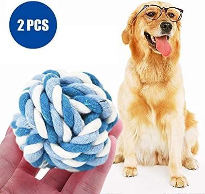2 Piezas de Juguete de Cuerda de algodón para Perro, Pelota de ...