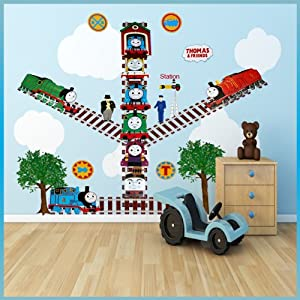 thomas the tank engine wall stickers decor decal art for. Black Bedroom Furniture Sets. Home Design Ideas