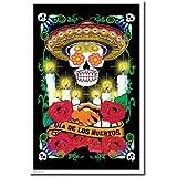 Dia de los Muertos Day of the Dead Flocked Blacklight Poster Print - 22x34 Blacklight Poster Print, 22x34