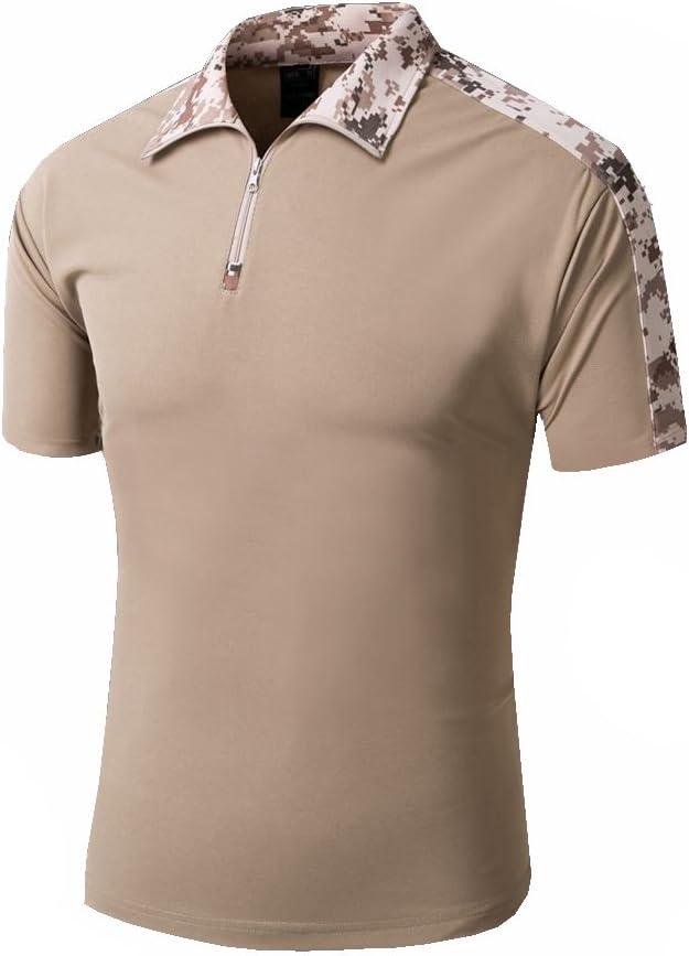 TACVASEN Secado Rápido Militar Táctico Hombre Camiseta Cremallera ...
