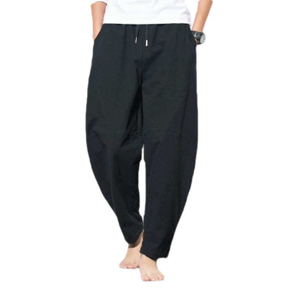 Winwinus Mens Casual Chinese Pants Pockets Solid Summer Big and Tall Trousers