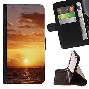BullDog Case - FOR/Samsung Galaxy S3 III I9300 / - / Sunset Beautiful Nature 49 /- Monedero de cuero de la PU Llevar cubierta de la caja con el ID Credit Card Slots Flip funda de cuer