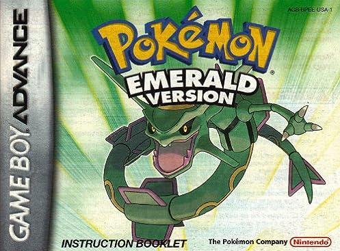 pokemon emerald version gba instruction booklet game boy advance rh amazon com Pokemon Ruby pokemon emerald game manual