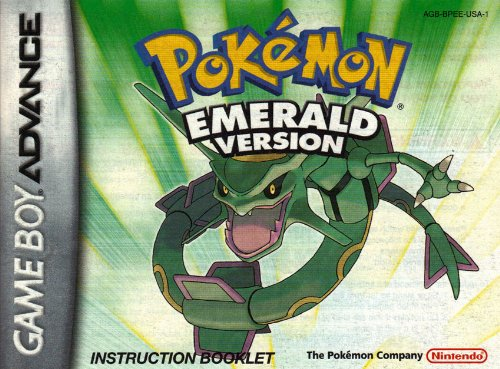 Pokemon Emerald Version GBA Instruction Booklet (Game Boy Advance Manual Only)