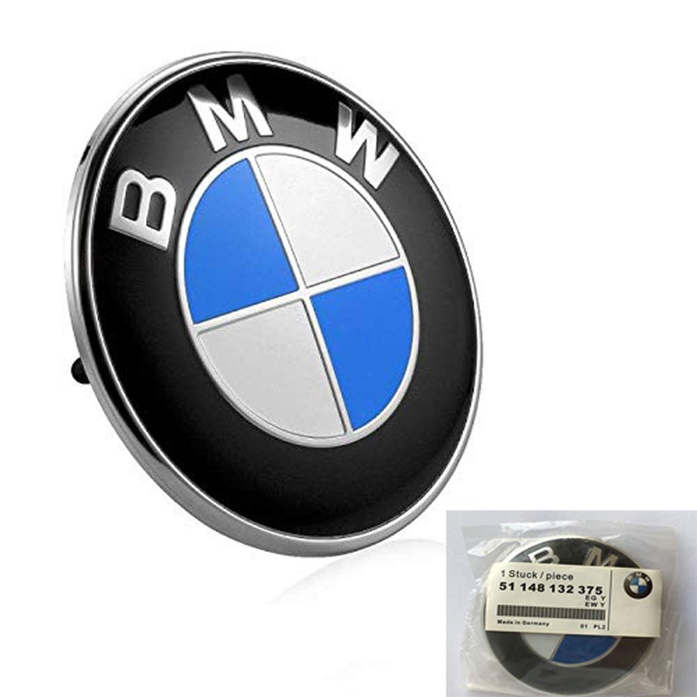 BMW Logo Emblem 74MM Replacement Badge for BMW Hood or Trunk Haocc Loud
