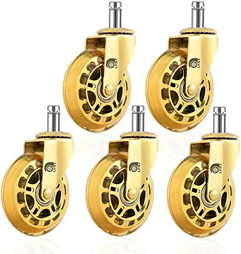 Perfect for Hardwood and Carpet LPHY Office Chair Caster Wheels 2.5inch