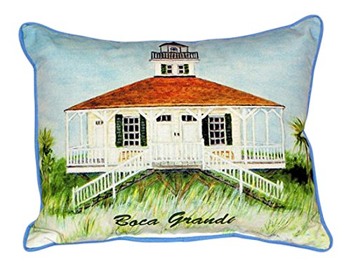 Betsy Drake Boca Grande Lighthouse Pillow, 16