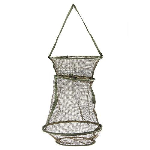 TOMOUNT Floating Fish Fishing Nylon Basket Mesh Net Collapsible Fresh Water