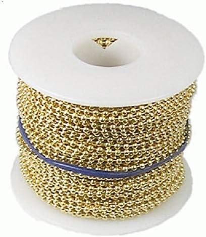 6 Pinehurst Crafts Brass Plated Steel Ball Chain Spool 100-Ft 3.2mm