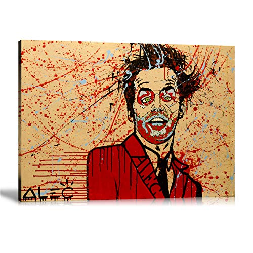 zzjart HD Printed Oil Paintings Home Wall Decor Art On Canvas Alec Monopoly Jack Splatter 1zise #349 (Unframed,20x27inch)