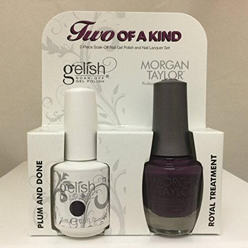 Gelish Core Duo Plum & Done and Royal Treatment Nail Polish