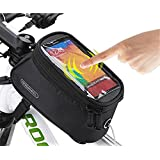 Roswheel 2014 New Updated Cycling Bicycle Bike Front Tube Top Tube Smartphone Bag Frame Pannier Phone Holder for iPhone Samsung HTC Nokia Sony LG and other Smartphones (Black, M-4.8'') by Roswheel