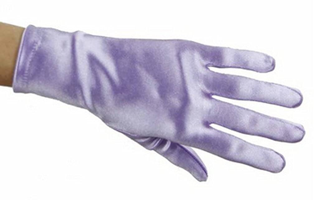 L C Boutique Girls Wrist Length Satin Gloves