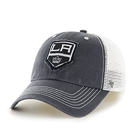 NHL Los Angeles Kings Taylor Closer Hat, One Size Stretch, Charcoal (Los Angeles Kings Hat 47)