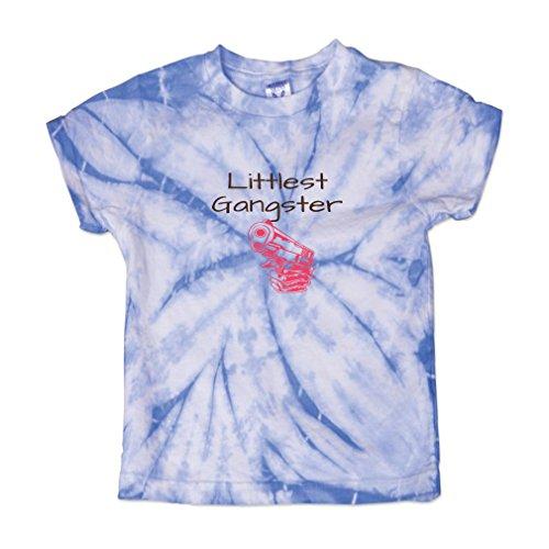 Littlest Gangster Baby Kid 100% Cotton Tie Dye Fine Jersey T-Shirt Tee - Carolina Blue, 4T