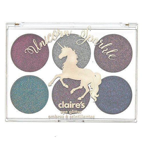 Claire's Girl's Unicorn Sparkle Glitter Eyeshadow Palette