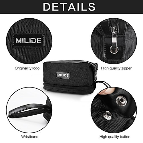 Deluxe Black Canvas Men & Women Toiletry Bag – Sturdy & Durable Travel Organizer With Strong Zipper Makeup Bag & Multiple Inside Pockets–Foldable & Hanging Traveling Shaving Dopp Kit by MILIDE (Image #4)