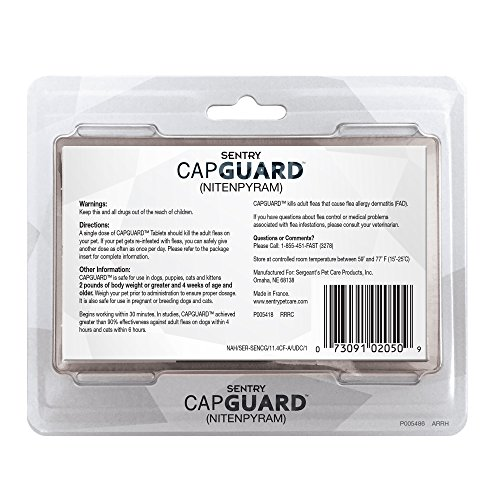 SENTRY-Capguard-nitenpyram-Oral-Flea-Control-Medication-2-25-lbs-6-count