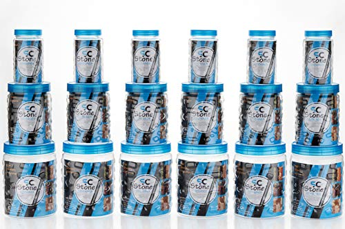 OWLSTONE EXIM LLP Checkers Plastic Container Set, 18-Pieces, Blue Price & Reviews
