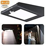 4 Pack Solar Lights,?Upgraded Version?Mulcolor Solar Motion Sensor Light with Super Bright 30 LED, Wireless Waterproof Solar Powered Security Light with PIR Sensor for Garden, Patio and Pathway