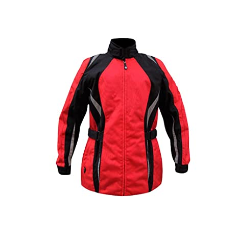 Amazon.com: jxhracing rb-j03003 Chaqueta de moto, L, Rojo ...