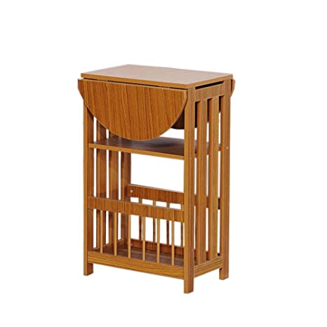 Amazon.com: Jcnfa-Shelves - Mesa auxiliar de madera maciza ...