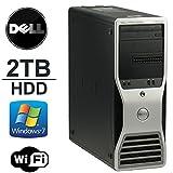 Windows 7 Pro 64-Bit Workstation Computer- DELL Precision T3400 - New 2TB HDD - Core 2 Quad 2.33Ghz - 8GB of Memory - FREE external 160GB Hard Drive- Refurbished Desktop