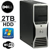 Dell Precision T3500 Workstation - Intel Quad Xeon 2.5GHz - 8GB DDR3 RAM - 250GB Solid State Drive + *NEW* 2TB HDD, Dual Monitor Capable- WiFi - DVD/CD-RW - Windows 7 Professional 64Bit- Refurbished
