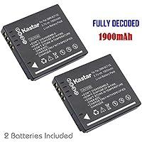 Kastar Battery (2-Pack) for Panasonic DMW-BCF10 DMW-BCF10PP A59 & Lumix DMC-FS12 FS15 FS25 FS4 FS42 FS6 FS7 FX40 FX48 FX500 FX550 FX580 F2 F3 FH1 FH20 FH22 FH3 FT3 FT4 FX68 FX700 FX75 TS1 TS2 TS3 TS4