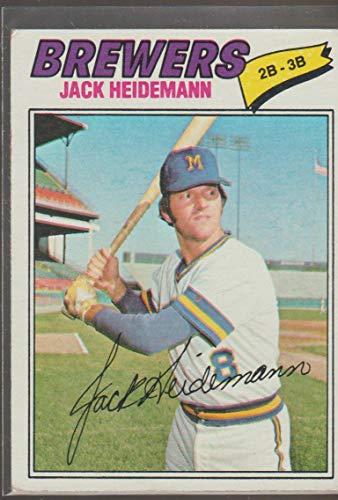 1977 Topps Jack Heidemann Brewers Baseball Card #553