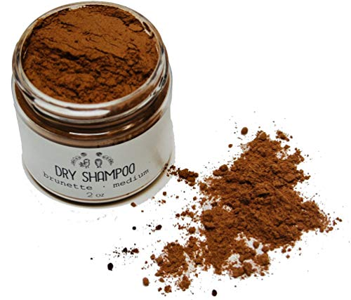 Dry Shampoo Natural Hair Powder Brown Medium Brunette
