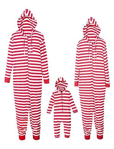 BESBOMIG Adulti Zip Abbigliamento Set Bambini Cappuccio Child Famiglia Up in di figlio Padre Casa Abbigliamento Felpe con Natale Nightwear da FzqrwF8