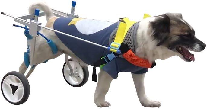 Silla de ruedas ajustable para perros Coche de entrenamiento de rehabilitación de mascotas para gatos y cachorros Patas traseras Ayuda de rehabilitación Scooter para perros