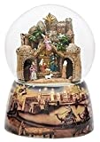 Bethlehem City Animated Musical Glass Glitterdome Christmas 120mm Snow Globe New