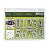 Whitehall Products Easy Street Address Sign Plaque, Silver