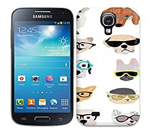 Hot Case Cover Protector For Galaxy S4- Dogs With Glasses Print