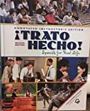 img - for TRATO HECHO! SPANISH FOR REAL LIFE.Second edition.Annotated Instructor's Edition. book / textbook / text book