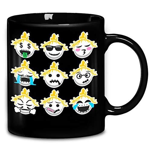 (Emoji Scarecrow Face Halloween Funny T-Shirt Coffee Mug 11oz & 15oz Gift Tea)