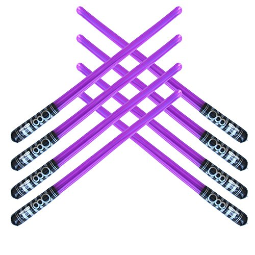 Pack of 8 Inflatable Light Saber Sword Toys - 8 Purple lightsabers - Great for Star Wars Parties and Favors, larp, Halloween costume, give away, Christmas stocking (Star Wars Halloween Party)
