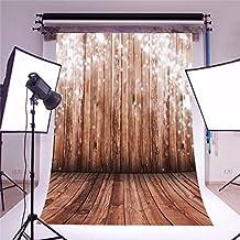 Mohoo 5x7ft Silk Photography Background Nostalgia Wood Floor Photo Backdrop Studio Props