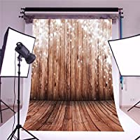 Mohoo 5x7ft Silk Photography Background Nostalgia Wood Floor Pattern Photography Collapsible Backdrop Studio Props (Updated Material)
