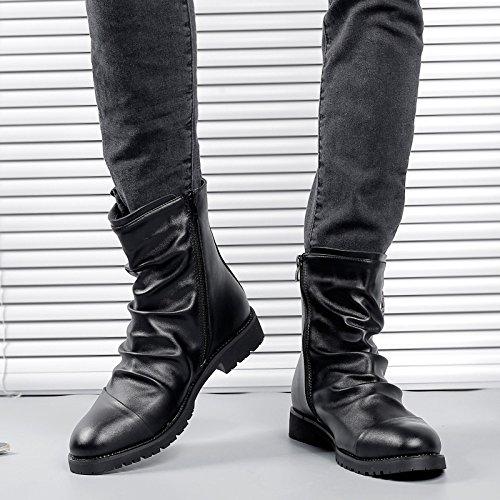Chaussures Cuir Hommes Hommes pour Martin Workwear Bottes Printemps Booties Black Low Vintage en Casual Top Bottes RqCw0CU